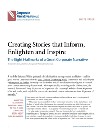 The Eight Hallmarks of a Great Corporate Narrative